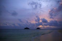 Sunrise on the beach in hawaii Stock Photos