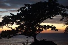 Sunrise on a beach hotel Royalty Free Stock Photos