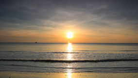 Sunrise beach stock footage