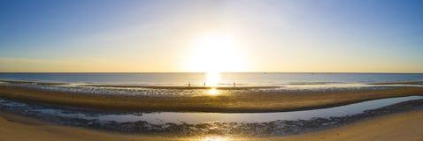Sunrise on the beach. Huahin Thailand Royalty Free Stock Image