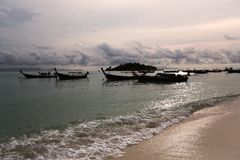 Sunrise Beach at KO LIPE on November 2014, Tarutao National Park Stock Photography