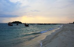 Sunrise Beach at KO LIPE on November 2014, Tarutao National Park Royalty Free Stock Image