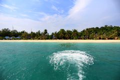 Sunrise Beach at KO LIPE on November 2014, Tarutao National Park Stock Photos