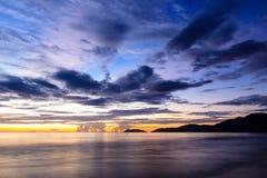 Sunrise on the beach. Sunrise on the Lang Co beach, hue, Vietnam Stock Photography