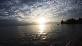Sunrise on the beach. Mahe, seychelles. Timelapse. Shot on Sony a7s stock video footage