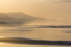 Sunrise on the beach of Matapalo in Costa Rica Stock Image