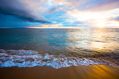 Sunrise on Beach on Maui Royalty Free Stock Image