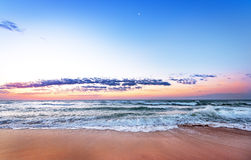 Sunrise on the beach. Royalty Free Stock Photo