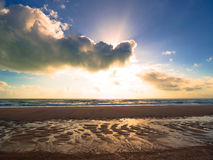 Sunrise on the beach. In the Morro Branco beach - Ceara - Brazil Stock Photography