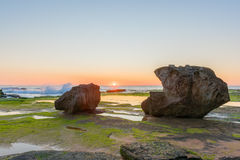 Sunrise on the beach. At Narrabeen,NSW,Australia Royalty Free Stock Image