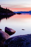 Sunrise. From a beach on the Nevada side of Lake Tahoe Stock Photography
