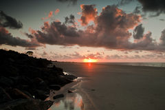 Sunrise of the Beach. The sunrise over the beach in St. Simon Georgia Stock Photo
