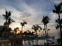 Sunrising in Los Cabos stock images