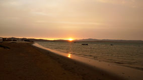 Sunrise Beach in Paracas. Pacific Ocean Stock Photos