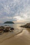 Sunrise on the beach in Phuket Royalty Free Stock Photos
