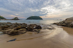 Sunrise on the beach in Phuket Royalty Free Stock Photography