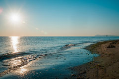 Sunrise on the beach in Rimini italy.  Stock Images