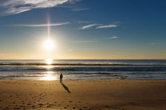 Surfers Paradise beach and Sunrise, Gold Coast Royalty Free Stock Images