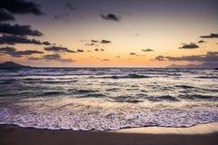 Sunrise on beach, Playa de Muro, Alcúdia, Mallorca