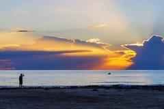 Sunrise on the beach Stock Image