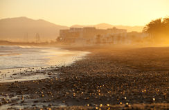 Sunrise on a beach in Spain Royalty Free Stock Images