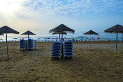 Sunrise on the beach in Spain Royalty Free Stock Photo