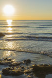 Sunrise on the beach in Spain Royalty Free Stock Photos