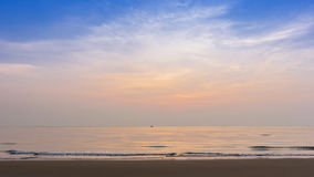 Sunrise at beach summer season Stock Image