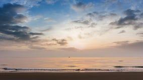 Sunrise at beach summer season Royalty Free Stock Photo