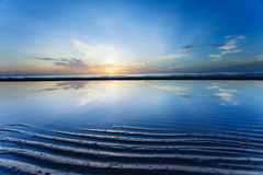 Sunrise and the beach Royalty Free Stock Image