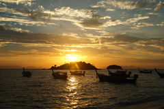 Sunrise. On the beach at Thailand Royalty Free Stock Photo