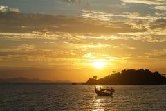 Sunrise. On the beach at Thailand Stock Photos