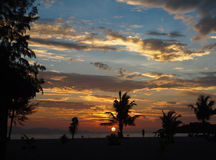 Sunrise. On the beach at Thailand Royalty Free Stock Photography
