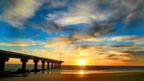Sunrise at the Beach - Timelapse stock footage