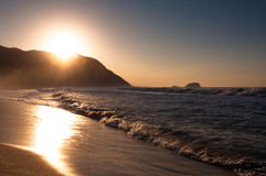 Sunrise in the Beach royalty free stock image