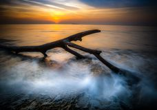 Sunrise on the beach in Varna. Stock Photography
