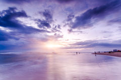 The sunrise and the beach Royalty Free Stock Photo