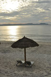 Sunrise on the beach. Vietnam. Royalty Free Stock Images