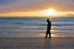 Sunrise on beach Waipu Cove Stock Images