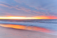 Sunrise beach Stock Photography