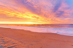 Sunrise beach Stock Image