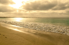 Sunrise at the beach in a winter day, Cabo Verde Stock Photos