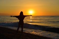 Sunrise on the beach Royalty Free Stock Photos