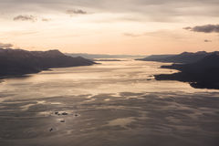 Sunrise on Beagle channel Royalty Free Stock Images