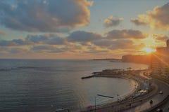 Sunrise beam background royalty free stock photography