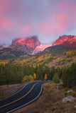 Sunrise on Bear Lake Road in Rocky Mountain National Park Royalty Free Stock Image