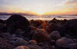 Sunrise. The beautiful sunrise at the beach Stock Photos