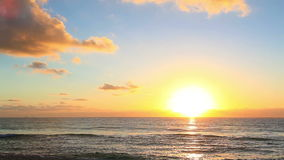 Sunrise. A beautiful sunrise on the beach of the Caribbean stock video