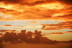 Sunrise. Beautiful clouds at sunrise., useful as a background Stock Photos