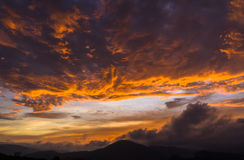 Red sky. Sunrise with beautiful red sky Stock Photos